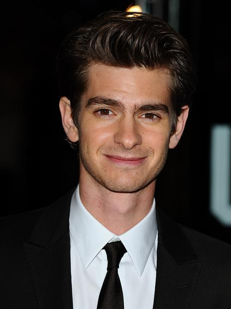 andrew garfield wearing a jacket and tie