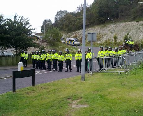 EDO Protest, Police line