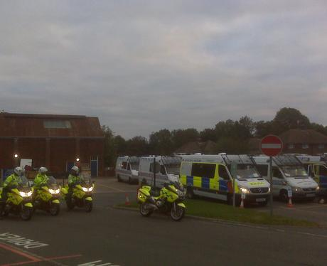 Sussex Police EDO Vehicle Convoy