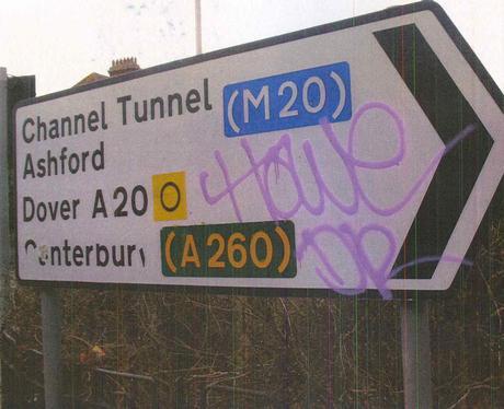 Example of Craig Knapman's graffiti