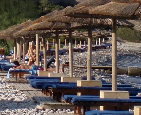 Lady gaga on beach