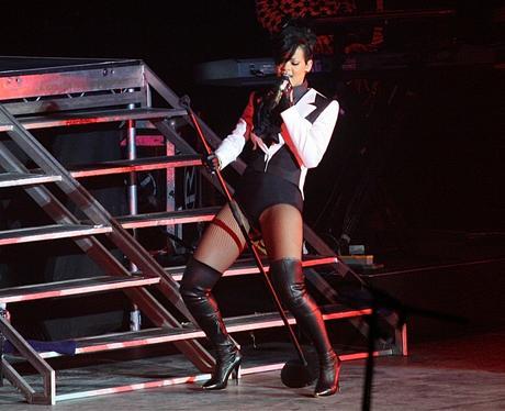 Rihanna performing live at the  Jingle Ball Ball 2