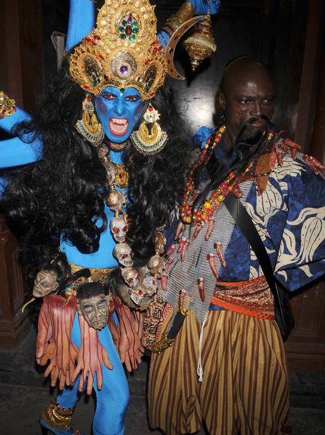 Heidi Klum Halloween Shiva.Halloween Celebrities Heart