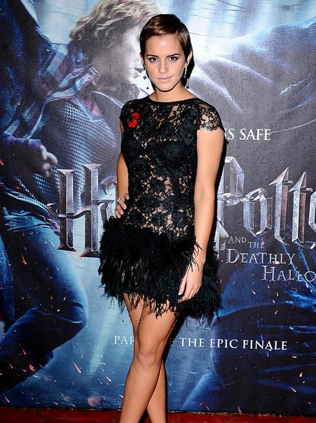 Emma Watson on the red carpet at the World Premiere of Harry Potter