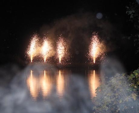Fairlands Valley Park Fireworks in Stevenage