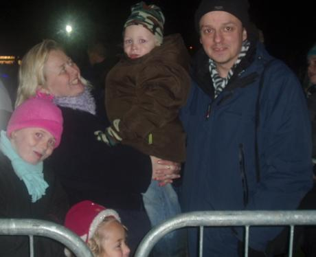 Fireworks at Popes Meadow in Luton