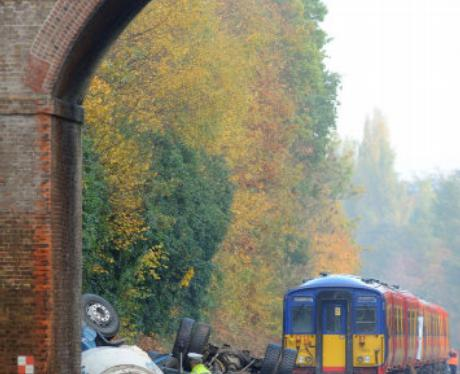Pictures from Oxshott Train Crash