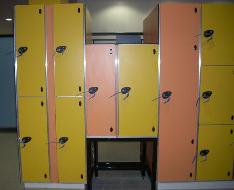 Special lockers for wheelchair users