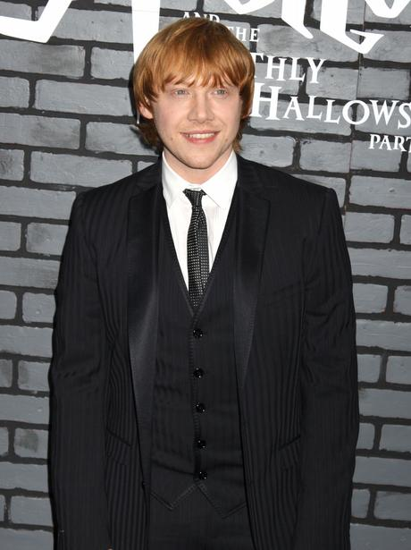 Rupert Grint with red hair