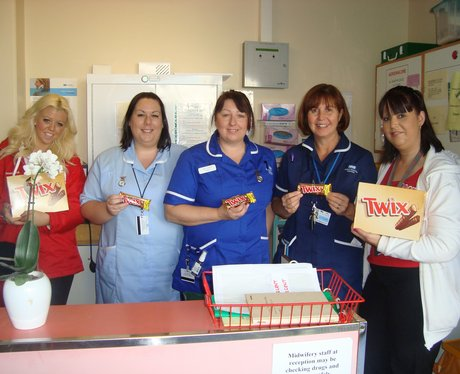 Twix and Tea at John Radcliffe Hospital