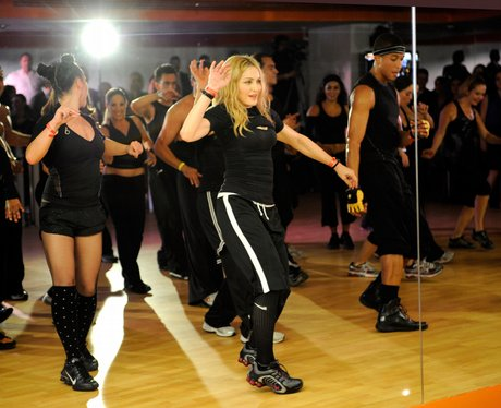 madonna launches gym