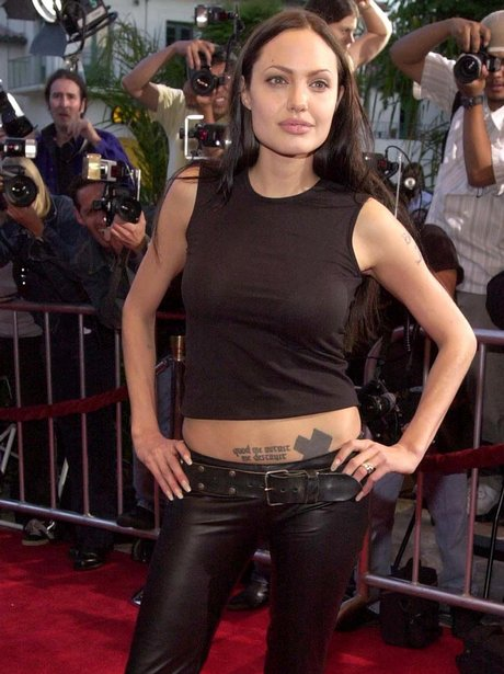 Angleina Jolie in leather trousers on the red carpet