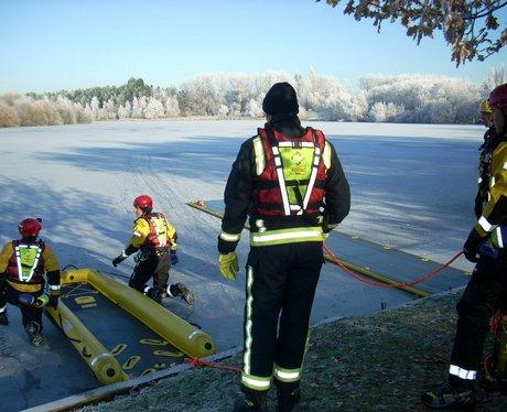 Practice Ice Rescue