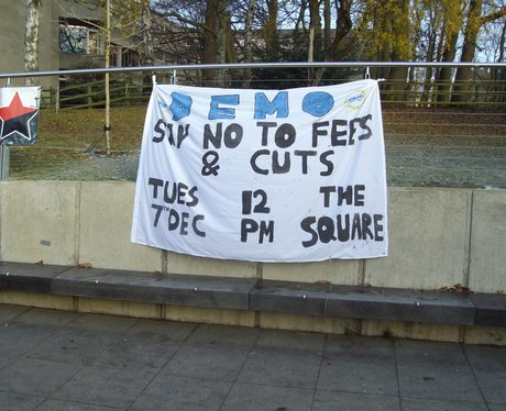 UEA Protest Banner