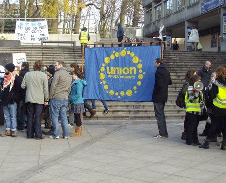 UEA Protest Union Banner