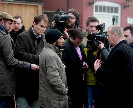 Neighbour talks to media