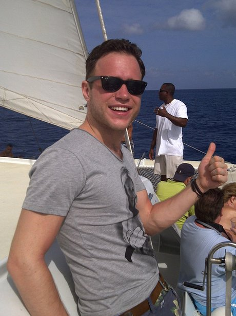 Olly Murs on Holiday.