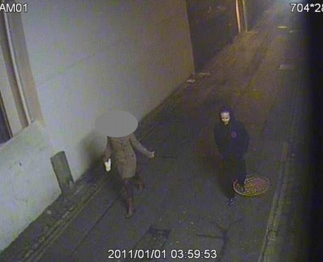 CCTV capture a witness talking to the man