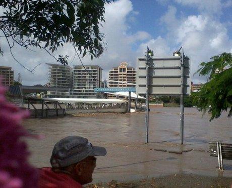 Brisbane River bursts its banks