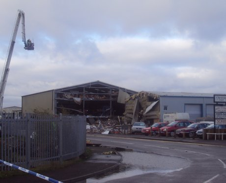 Explosion devastates industrial estate buildings