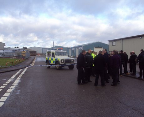 Industrial estate blocked off for safety