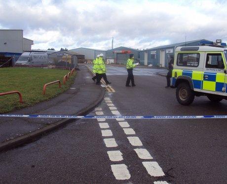 rackheath industrial estate blocked off by police