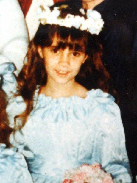 Victoria Adams as a young girl