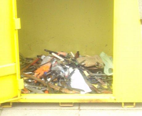 Blades put in Amnesty bin