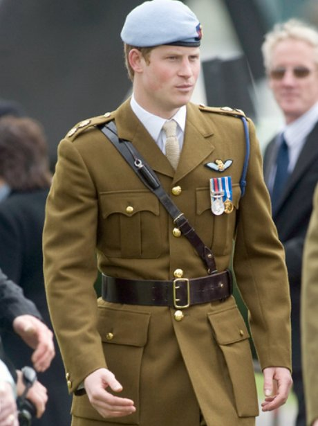 Prince Harry in unifrom