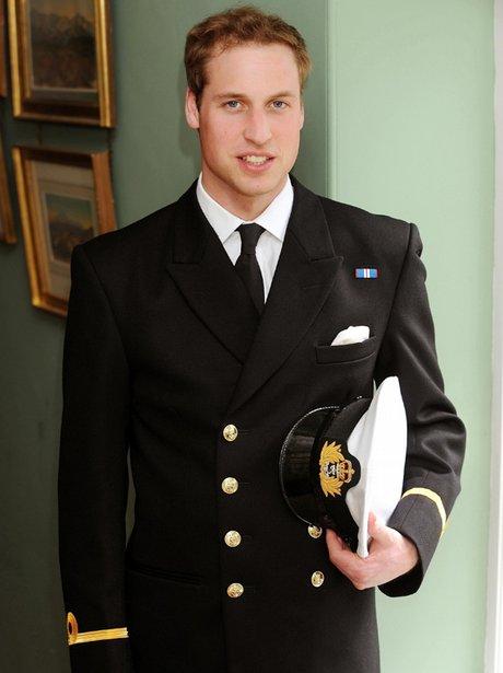 Prince William in his Royal Navy uniform