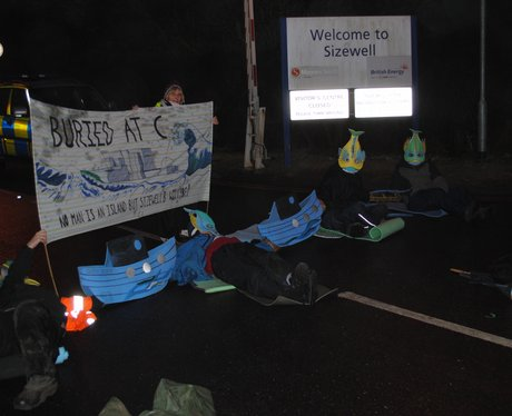 Protestors outside Sizewell