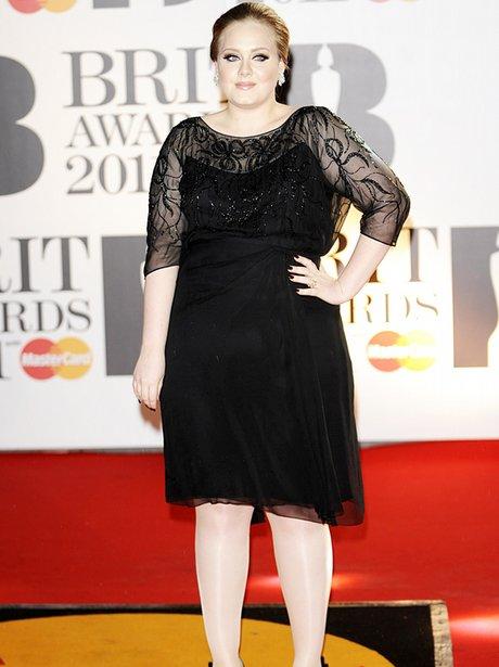 Adele arriving for the 2011 Brit Awards