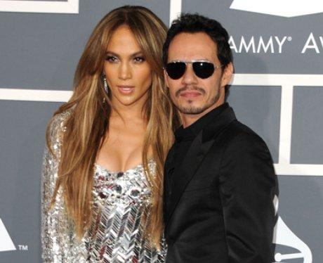 Jennifer Lopez and Marc Anthony at the Grammy Awar