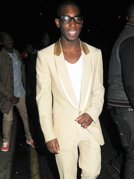 Tinie Tempah looks hot to trot in a cream suit