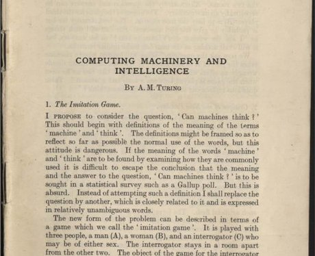 an examination of the imitation game or computing machinery and intelligence The annotation game: on turing (1950) on computing, machinery  intelligence) cannot be defined terms of a game which we call the 'imitation game.