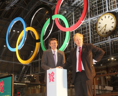 Olympic rings at St Pancras International