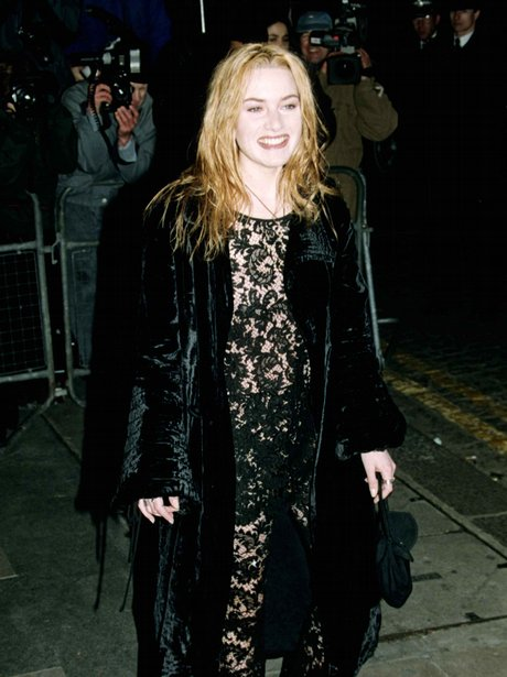 Kate Winslet in a black dress