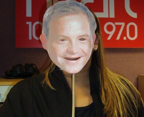 Michele with Fake Matt Mask