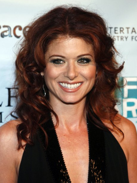 Debra Messing with long red hair