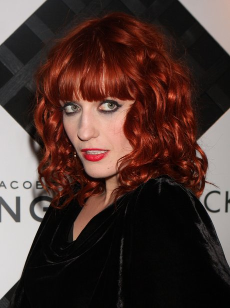 Florence Welch with red hair