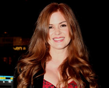 Isla Fisher with long red hair