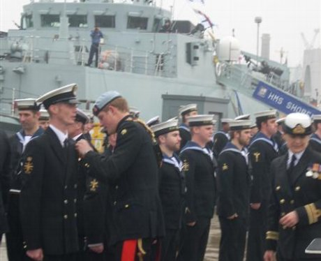 Prince Harry at Portsmouth Naval Base 2011