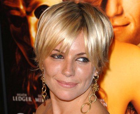 Sienna Miller with a blonde crop