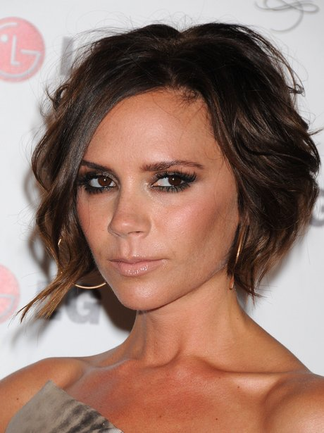 Victoria Beckham Celebrity Short Hair Heart