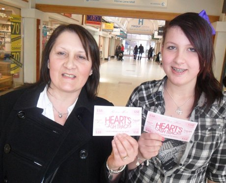 Hearts Cash Tracks win £50 with the Heart Angels!