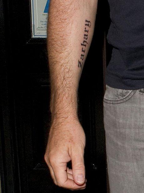 David Furnish with Tattoo