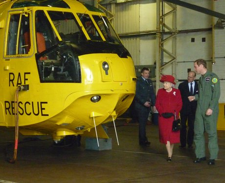 Queen visits RAF Valley