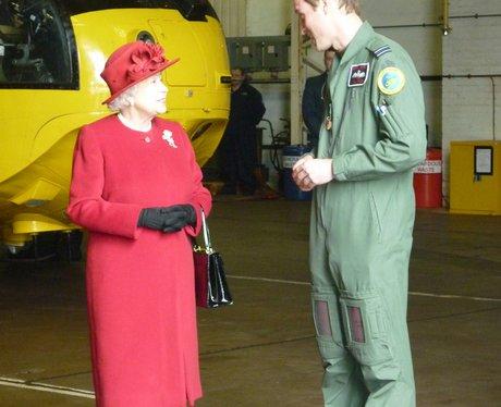 Queen visits RAF Valley