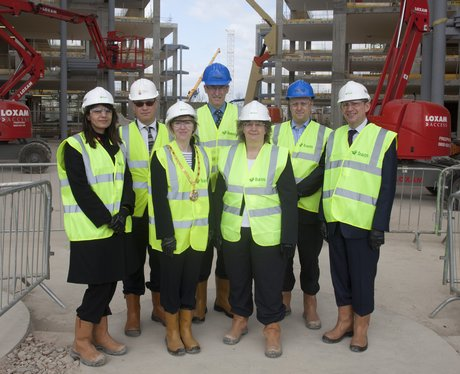 Topping out ceremony at Network Rail's new HQ