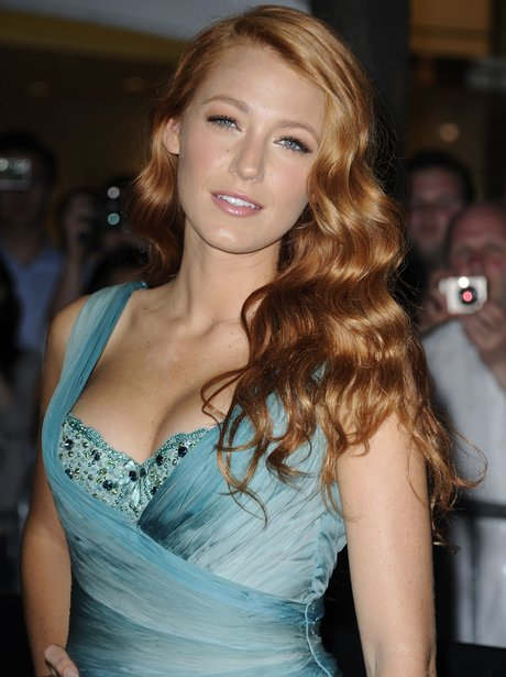 Blake Lively with long red hair